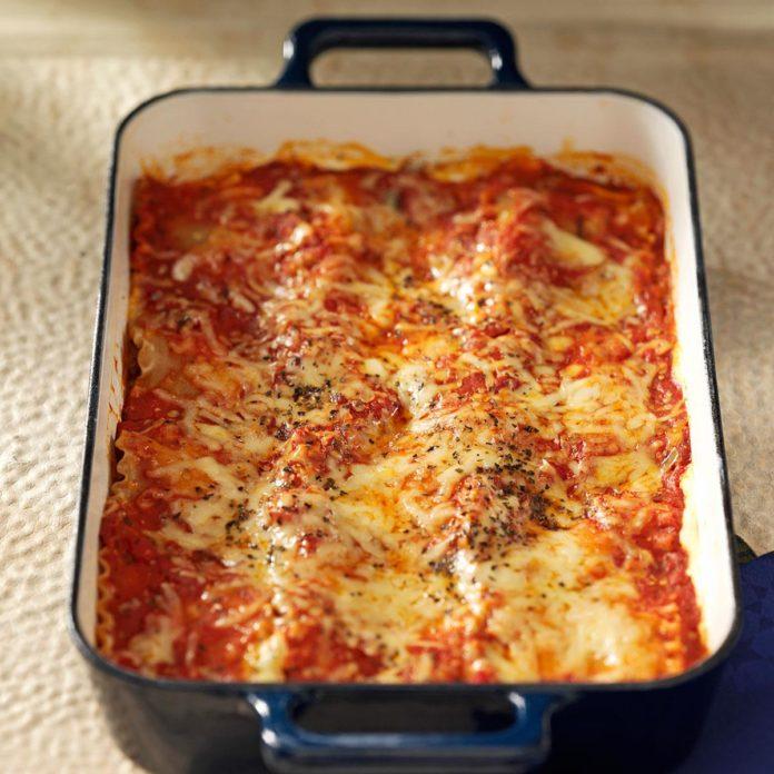 Косметика из говядины и колбасы лазанья