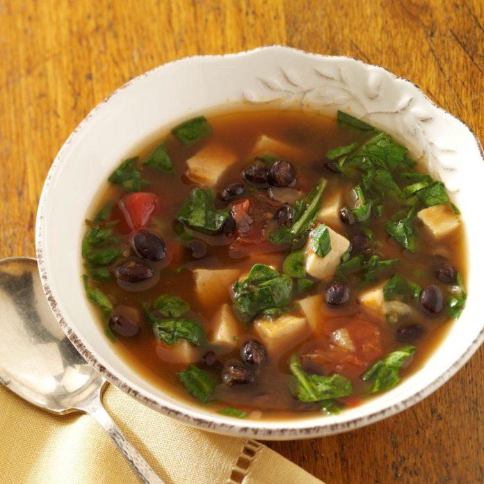 Быстрый юго-западный куриный суп