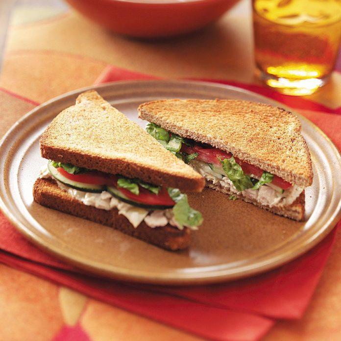 Тунец Цезарь Бутерброды для двоих