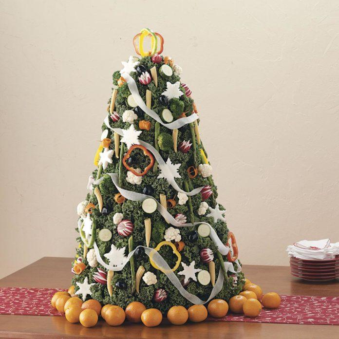 Овощная новогодняя елка